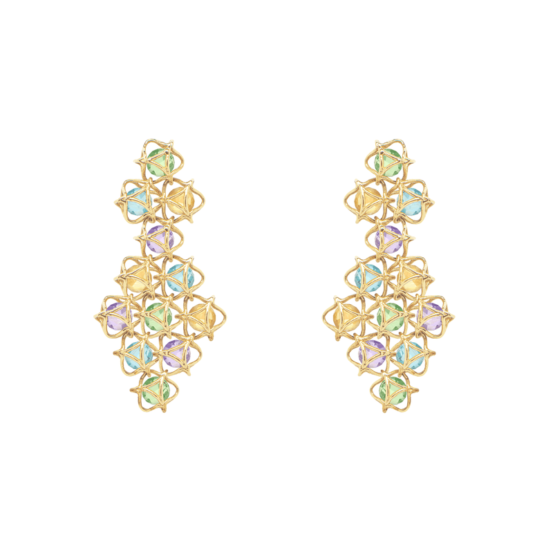EMBRACE AMALFI COAST Couture Earrings 18ct Yellow Gold