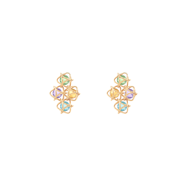 EMBRACE AMALFI COAST Cloud Earrings 18ct Yellow Gold