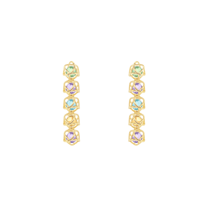 EMBRACE AMALFI COAST 5-Star Earrings 18ct Yellow Gold