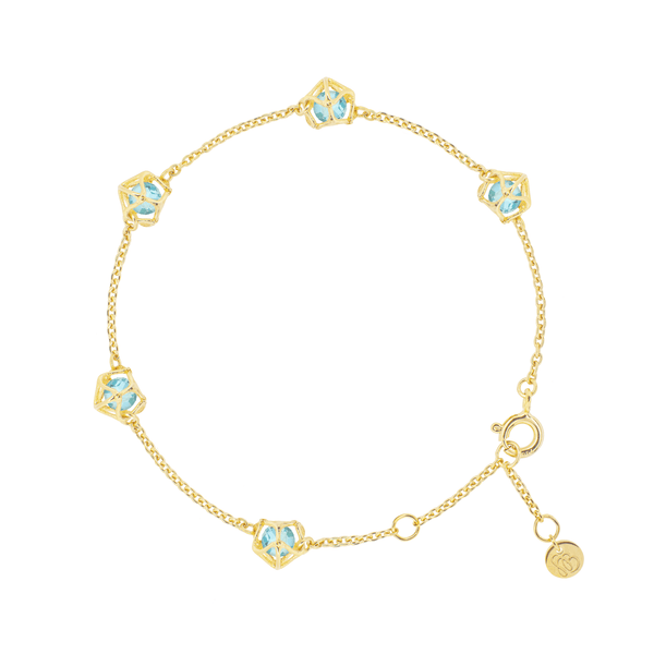 EMBRACE COTE D'AZUR  Multi-Star Bracelet 18ct Yellow Gold