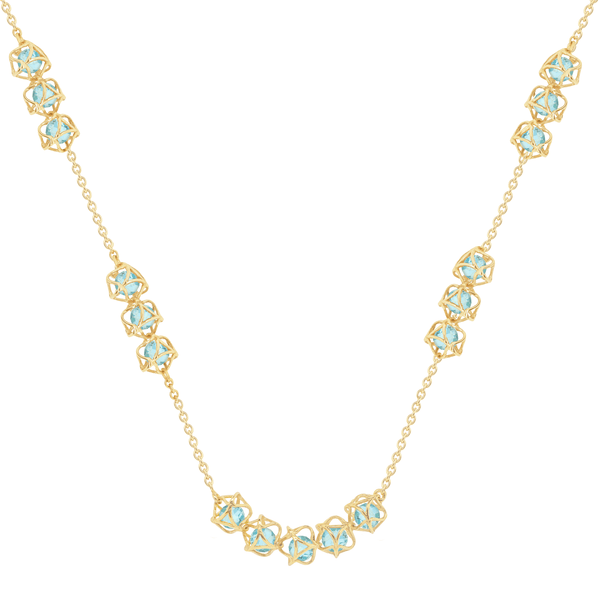 EMBRACE COTE D'AZUR Multi-Star Necklace 18ct Yellow Gold