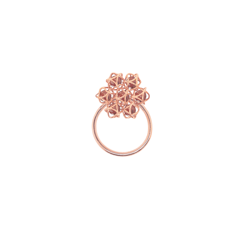 EMBRACE HONG KONG Flower Ring 18ct Rose Gold