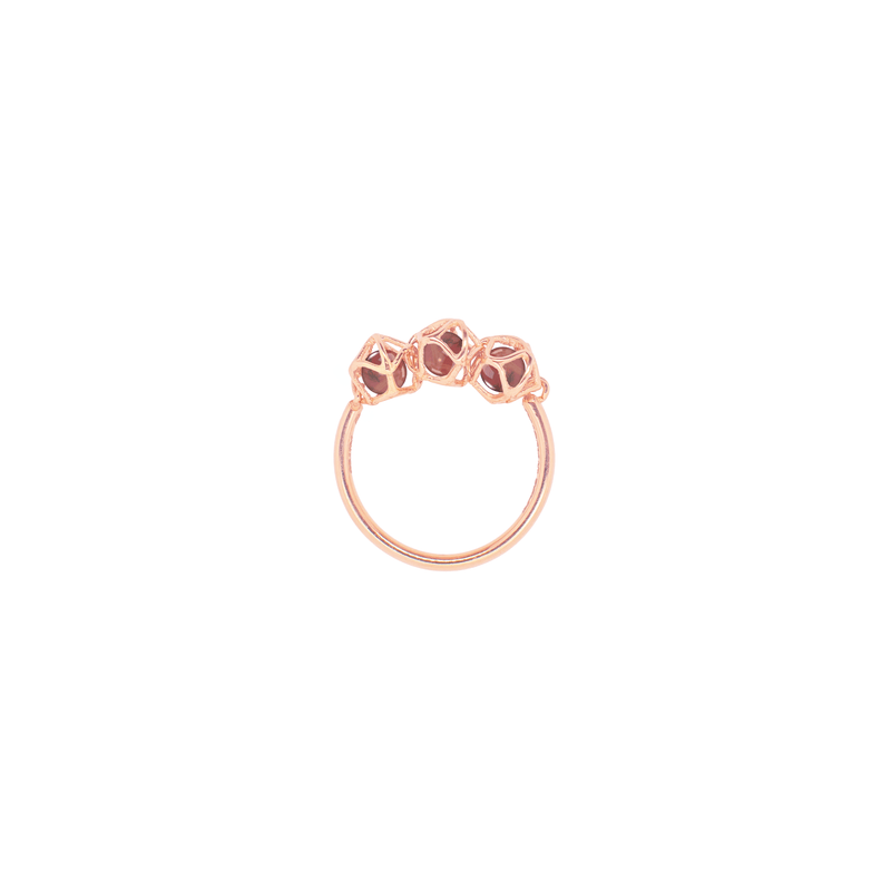 EMBRACE HONG KONG 3-Star Ring 18ct Rose Gold