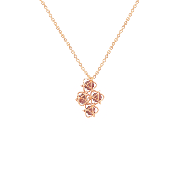 EMBRACE HONG KONG Cloud Necklace 18ct Rose Gold