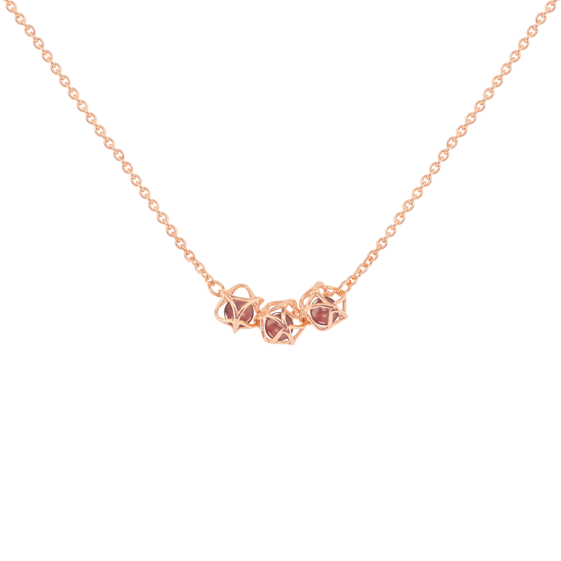 EMBRACE HONG KONG 3-Star Necklace 18ct Rose Gold