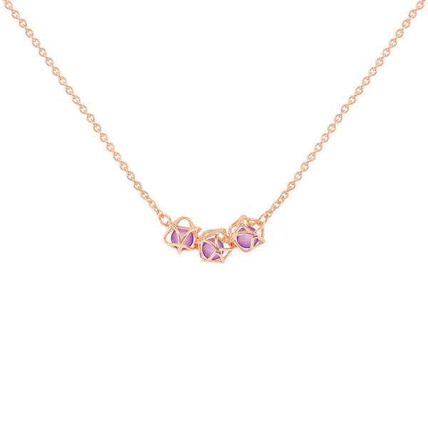 EMBRACE VIENNA ROYAL 3-Star Necklace 18ct Rose Gold