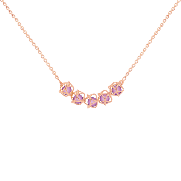 EMBRACE VIENNA ROYAL 5-Star Necklace 18ct Rose Gold
