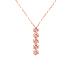 EMBRACE VIENNA ROYAL 5-Star Fall Necklace 18ct Rose Gold