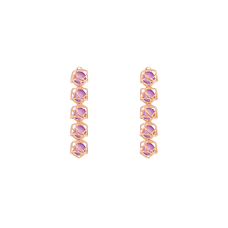 EMBRACE VIENNA ROYAL 5-Star Earrings 18ct Rose Gold