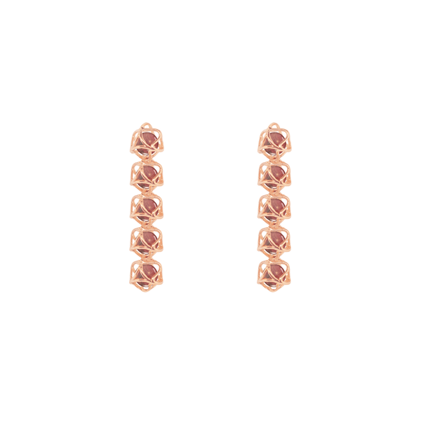 EMBRACE HONG KONG 5-Star Earrings 18ct Rose Gold