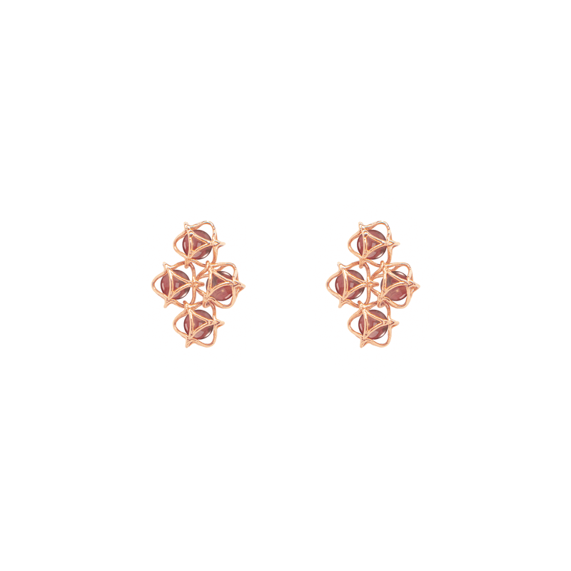EMBRACE HONG KONG Cloud Earrings 18ct Rose Gold