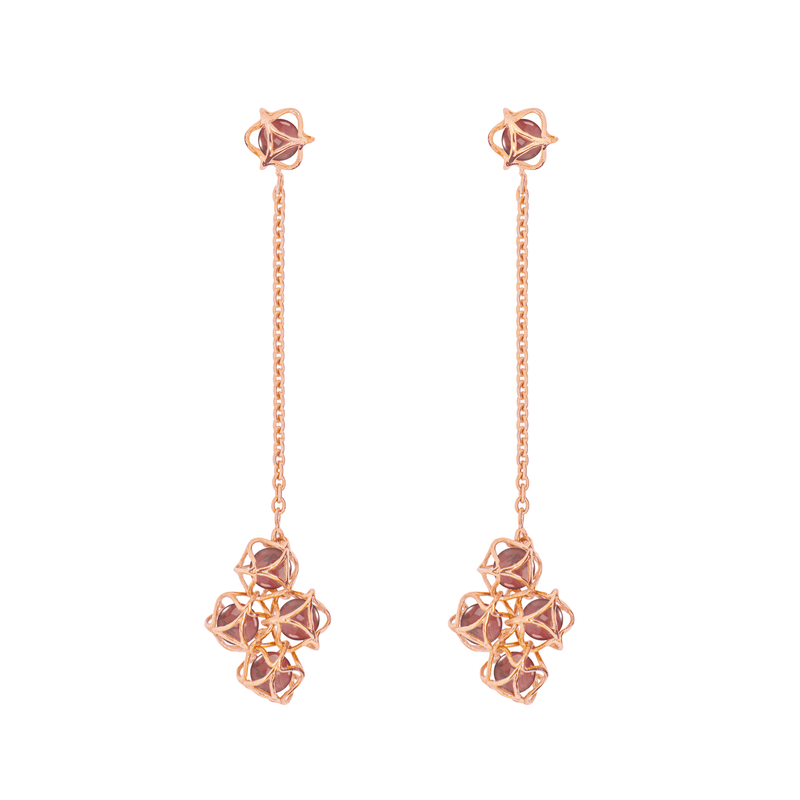 EMBRACE HONG KONG Cloud Long Earrings 18ct Rose Gold
