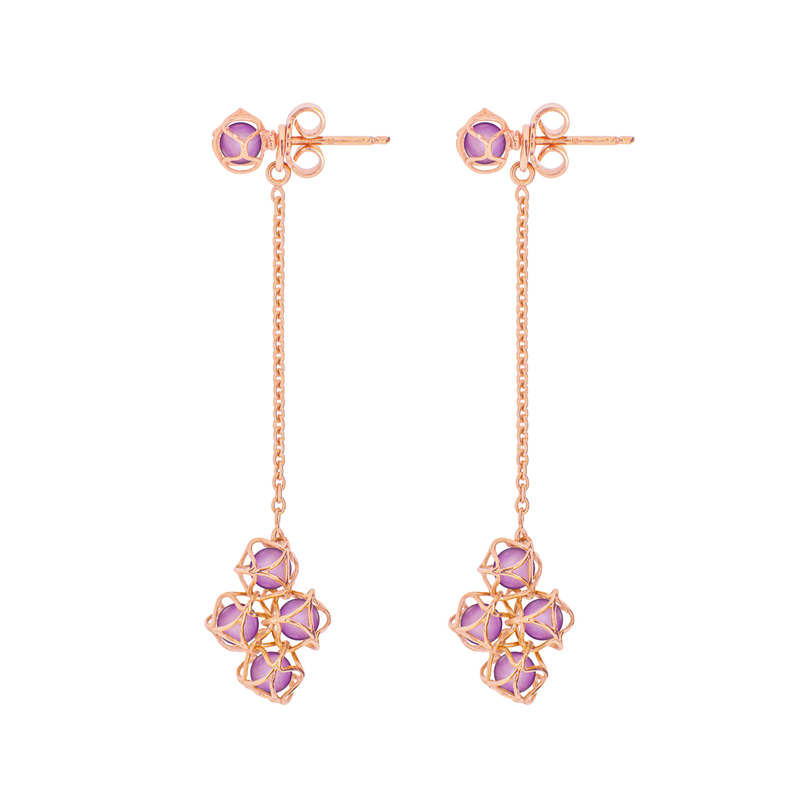 EMBRACE VIENNA ROYAL Cloud Long Earrings 18ct Rose Gold