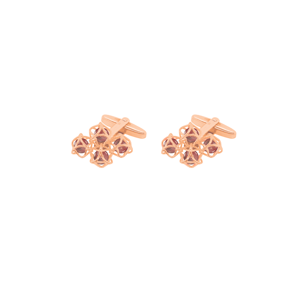 EMBRACE HONG KONG Cloud Cufflinks 18ct Rose Gold