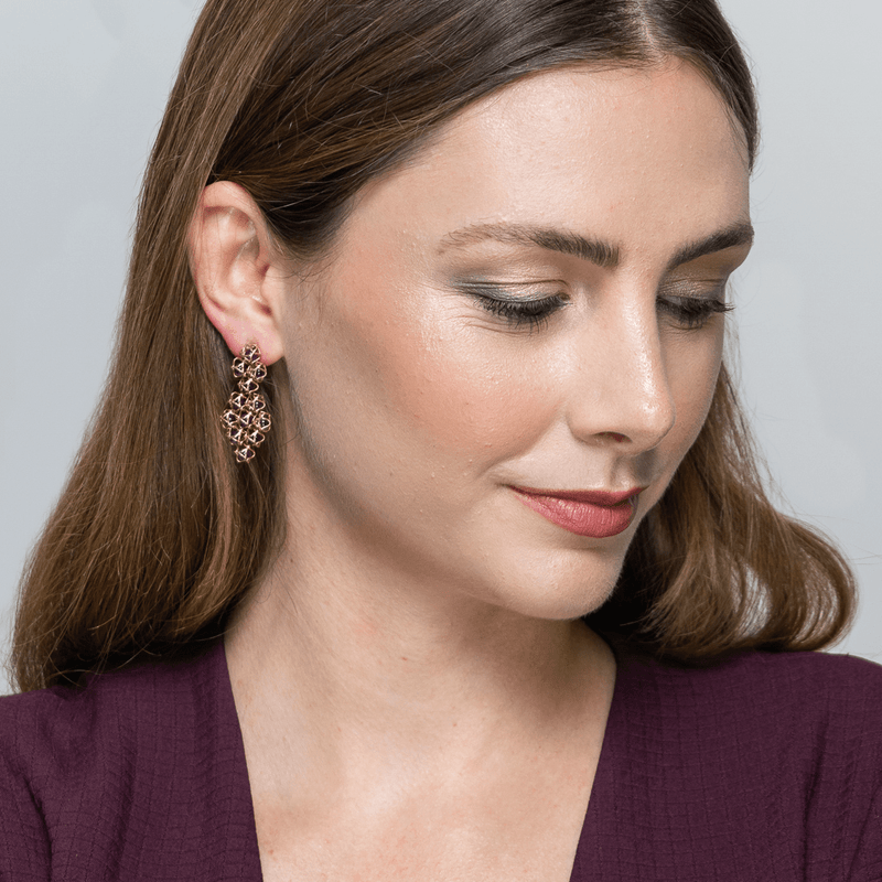 EMBRACE HONG KONG Couture Earrings 18ct Rose Gold