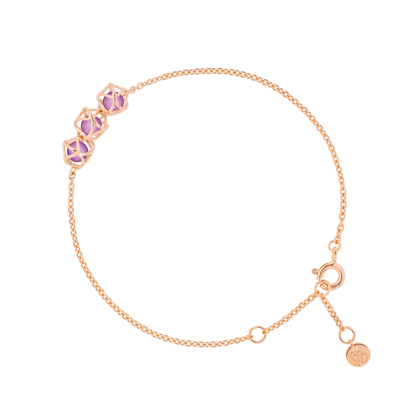 EMBRACE VIENNA ROYAL 3-Star Bracelet 18ct Rose Gold