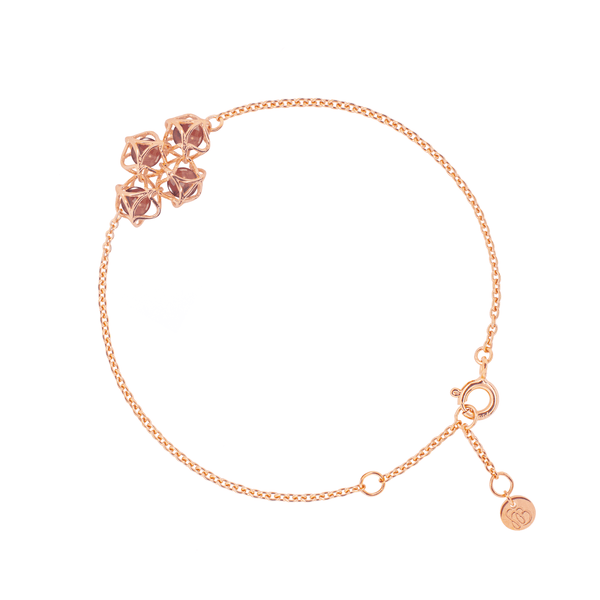 EMBRACE HONG KONG Cloud Bracelet 18ct Rose Gold