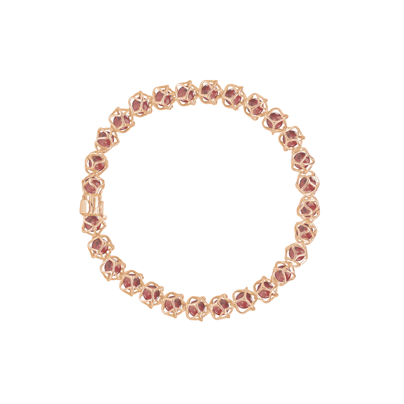 EMBRACE HONG KONG 1-Row Bracelet 18ct Rose Gold