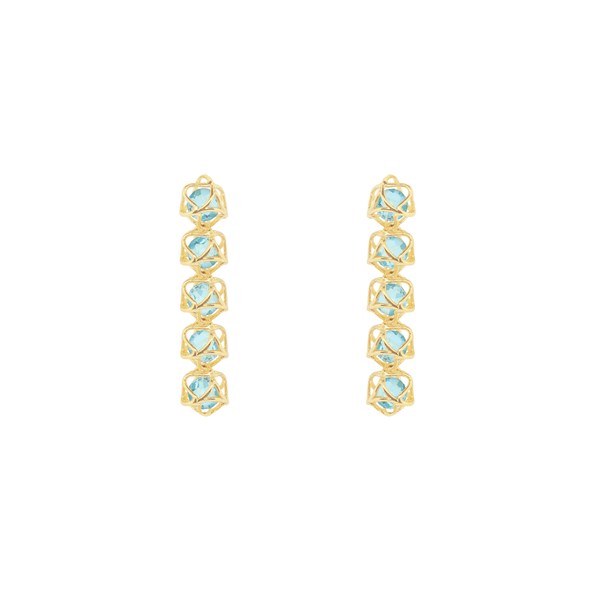 EMBRACE COTE D'AZUR  5-Star Earrings 18ct Yellow Gold