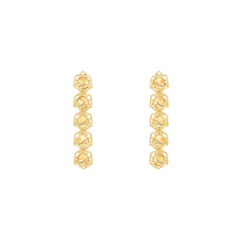 EMBRACE TUSCANY SUNSET 5-Star Earrings 18ct Yellow Gold