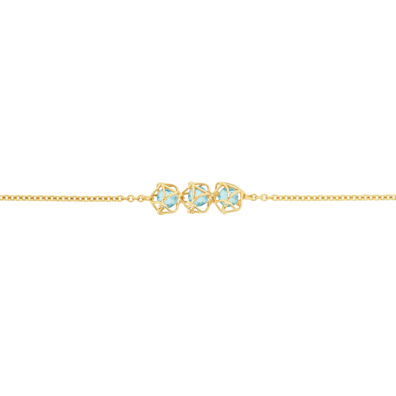 EMBRACE COTE D'AZUR  3-Star Bracelet 18ct Yellow Gold