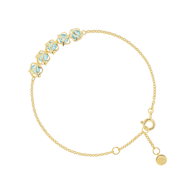 EMBRACE COTE D'AZUR  5-Star Bracelet 18ct Yellow Gold