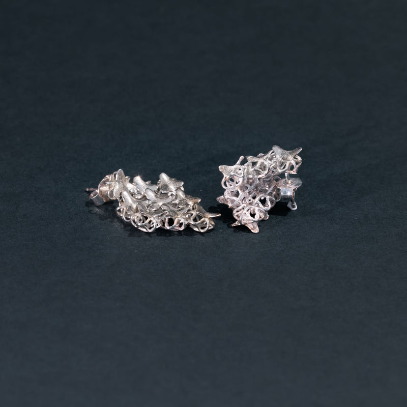 AFFINITY SILVER 3x3 Hash Earrings