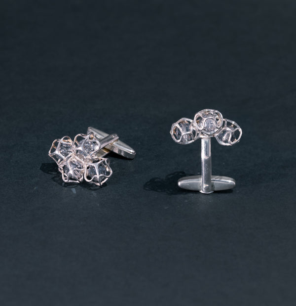 EMBRACE SILVER Cloud Cufflinks 6 mm