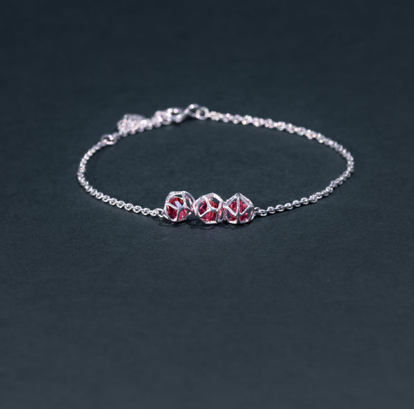 EMBRACE SILVER 3-Star Bracelet 4 mm