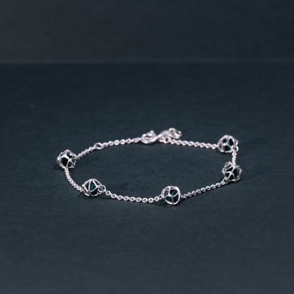 EMBRACE SILVER Multi-Star Bracelet 4 mm