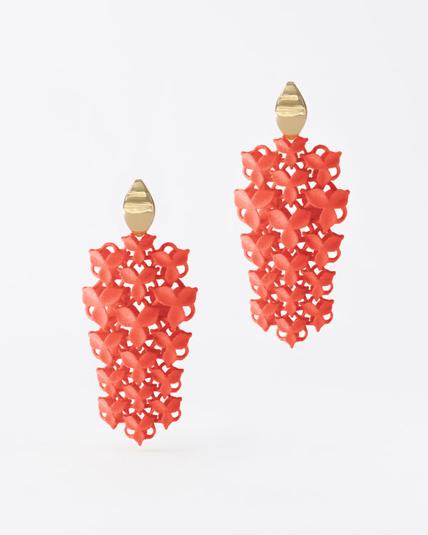 FABNORA Blossom | Salmon Red | Earrings Small