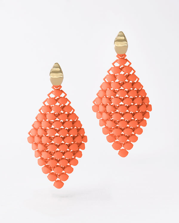 FABNORA Essence | Salmon Red | Earrings Small