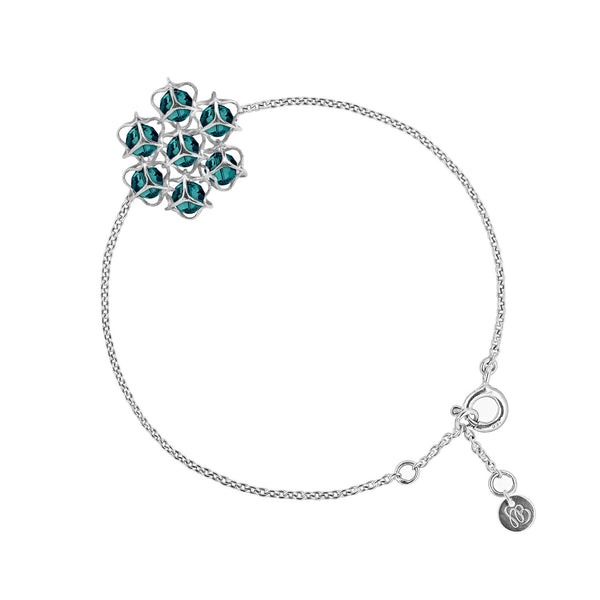 EMBRACE Flower Bracelet Sterling Silver 4mm