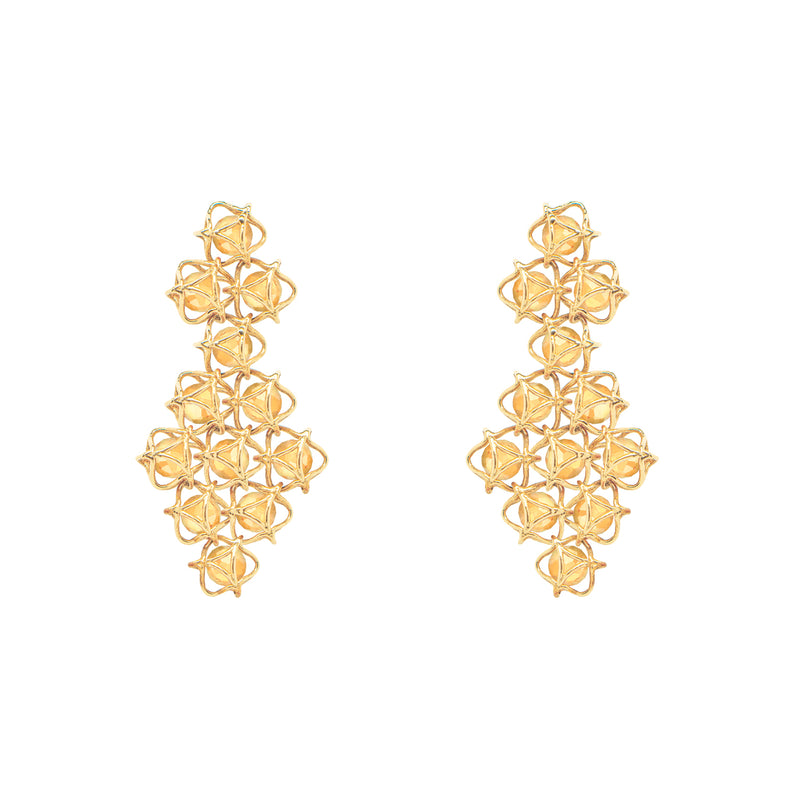 EMBRACE TUSCANY SUNSET Couture Earrings 18ct Yellow Gold