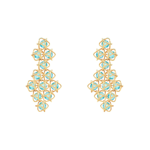 EMBRACE COTE D'AZUR Couture Earrings 18ct Yellow Gold