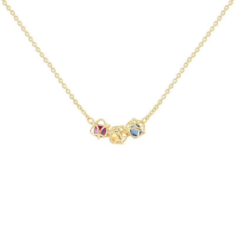 Designer necklace EMBRACE MONTREAL LEAVES 3-Star Necklace - Boltenstern