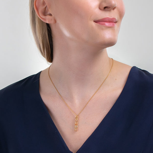 EMBRACE AMALFI COAST 5-Star Fall Necklace 18ct Yellow Gold