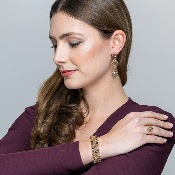 EMBRACE COUTURE MONTREAL LEAVES 3-Row Bracelet