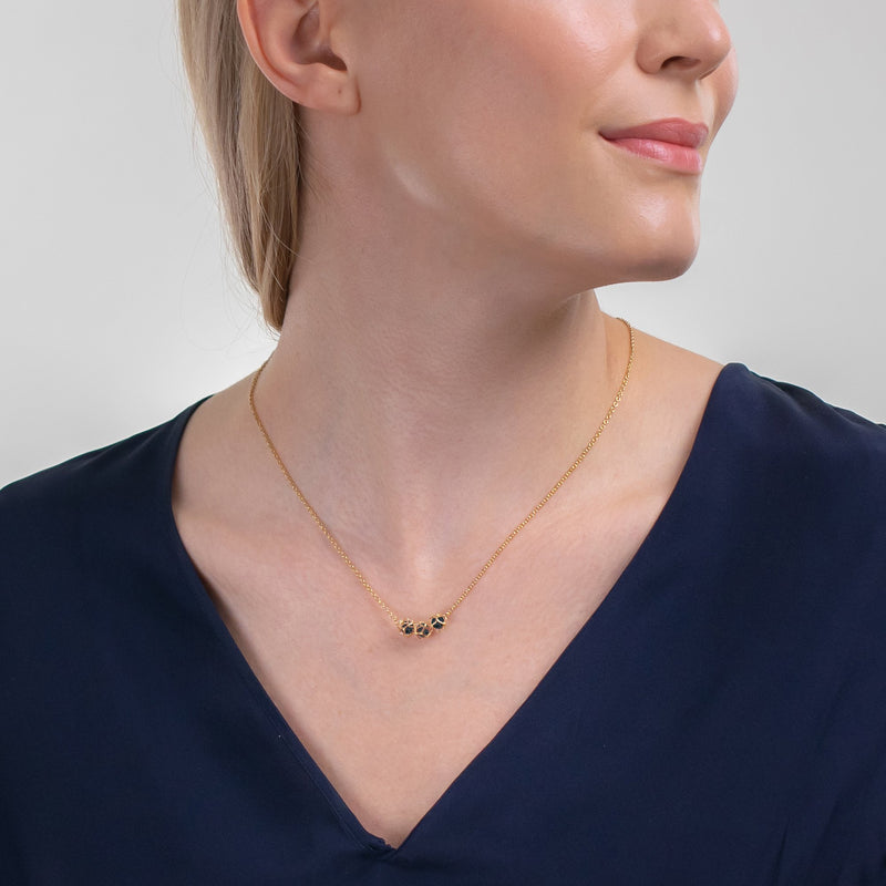 Designer necklace EMBRACE LONDON SKY 3-Star Necklace - Boltenstern