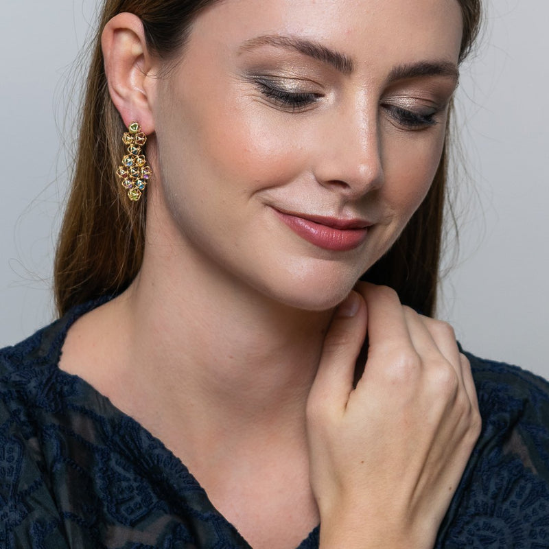 Designer earrings EMBRACE MONTREAL LEAVES Couture Earrings - Boltenstern