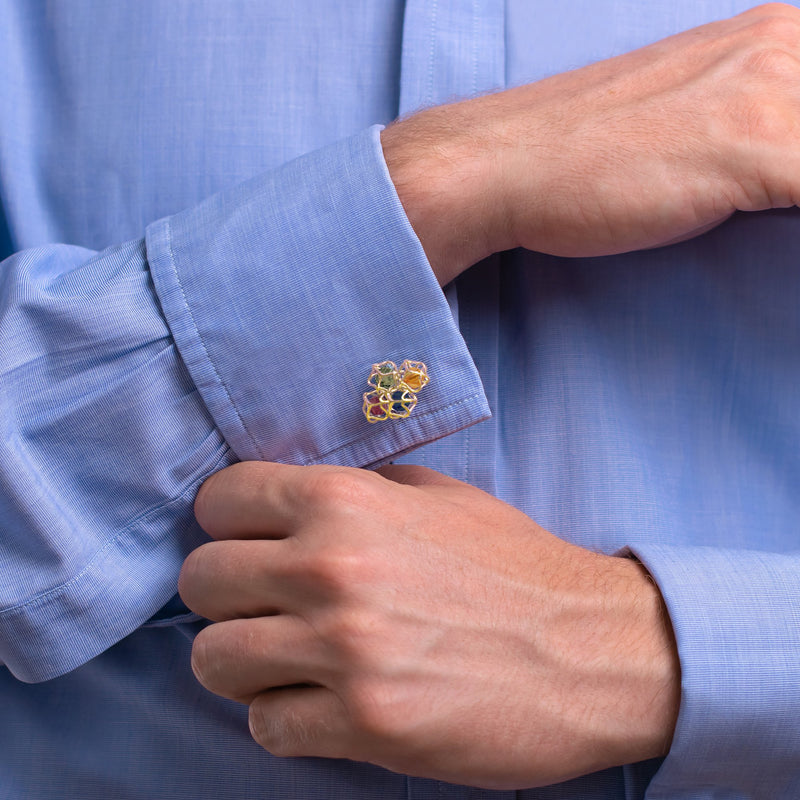 Designer cufflinks EMBRACE MONTREAL LEAVES Cloud Cufflinks - Boltenstern