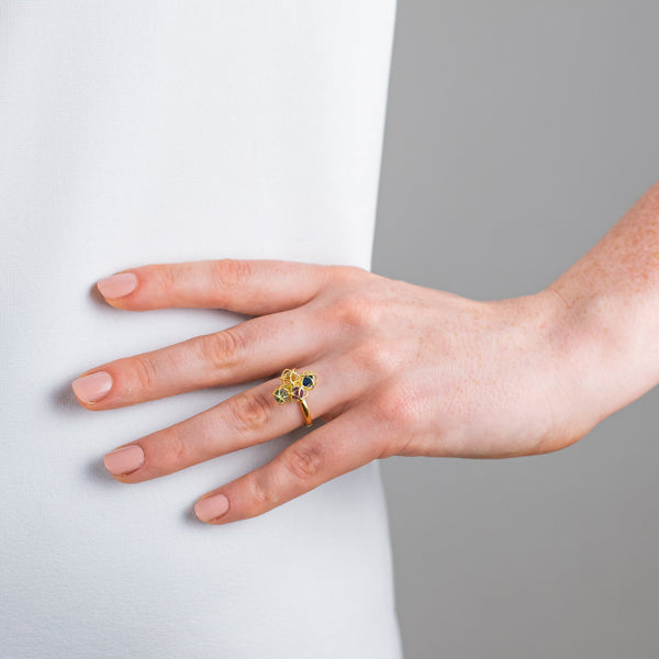 Designer ring EMBRACE MONTREAL LEAVES Cloud Ring - Boltenstern
