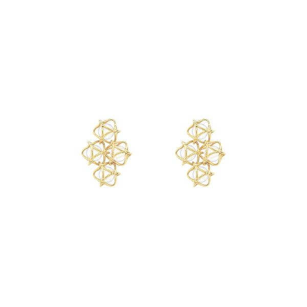 EMBRACE MOSCOW IMPERIAL Cloud Earrings 18ct Yellow Gold