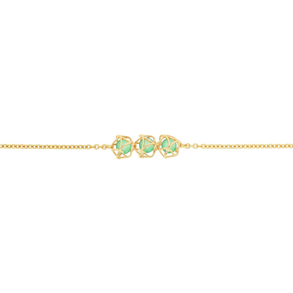 EMBRACE PARIS CLASSIC 3-Star Necklace 18ct Yellow Gold
