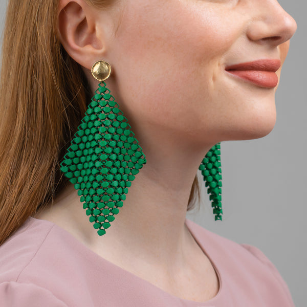 FABNORA | Forest Green | Earrings L