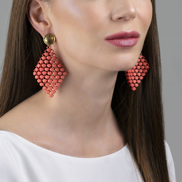 FABNORA | Salmon Red | Earrings S