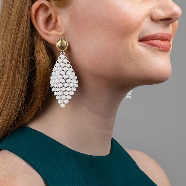 FABNORA | Cotton White | Earrings S