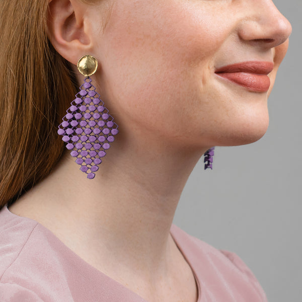 FABNORA | Amethyst Violet | Earrings L