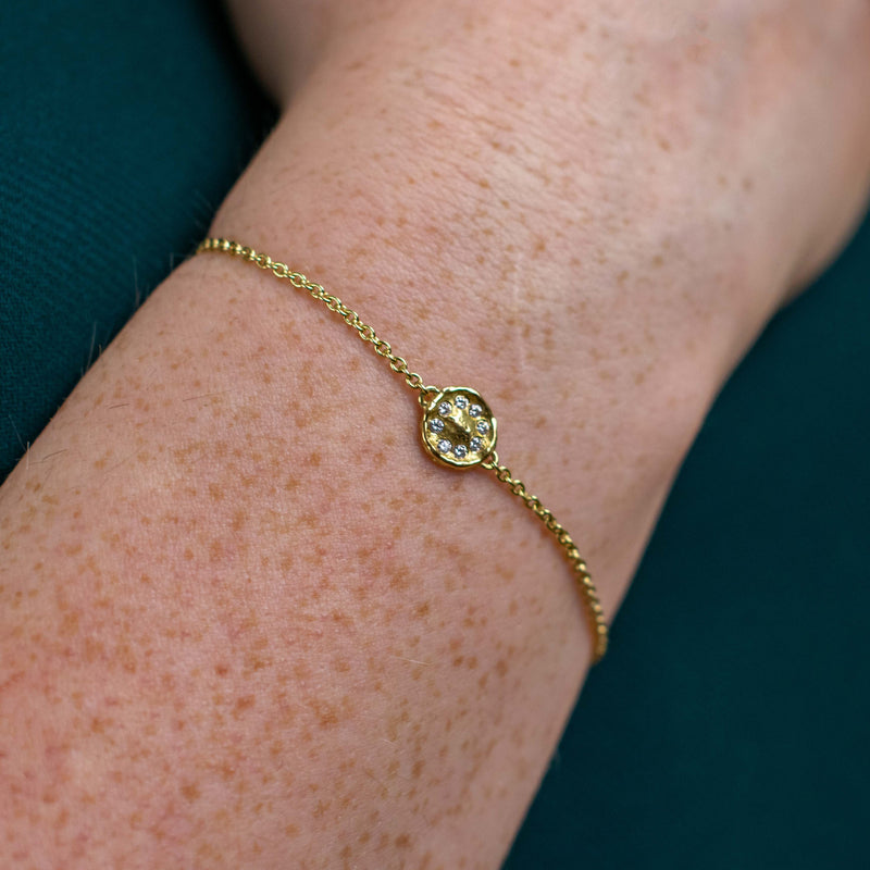 HERITAGE Bracelet S Gold With Diamonds