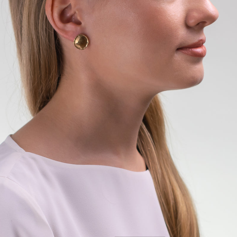 HERITAGE Earrings M Gold With Diamonds